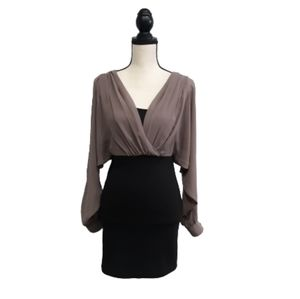 Double Zero Fitted Dress with Blouse Top